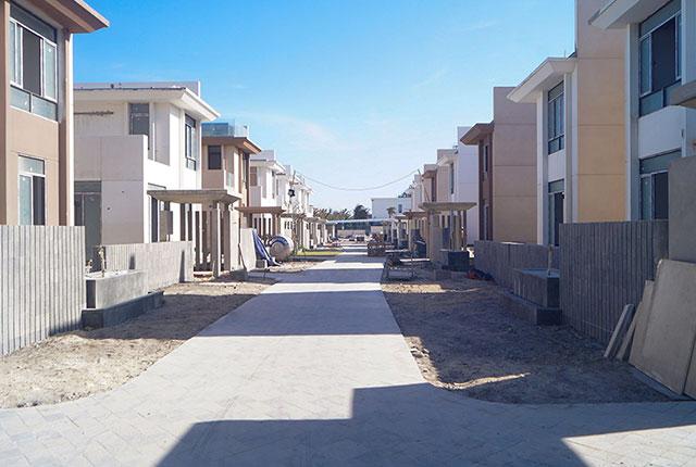 Công tác thi công lát đá đường nội khu