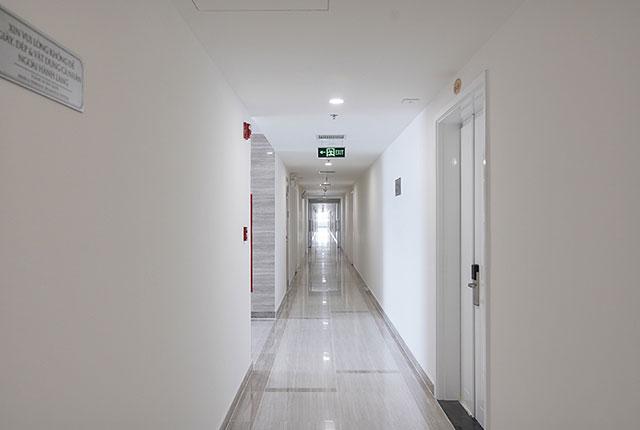 Hình ảnh hành lang căn hộ block A