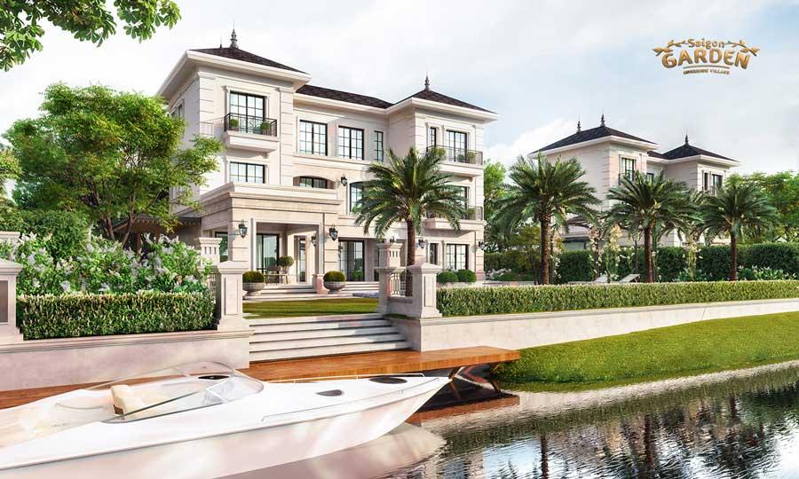 Phối cảnh biệt thự vườn Sài Gòn Garden Riverside Village