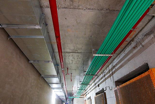 Lắp đặt hệ thống M&E từ tầng 5 đến tầng 15 Block A1, Block A2, Block B và Block C