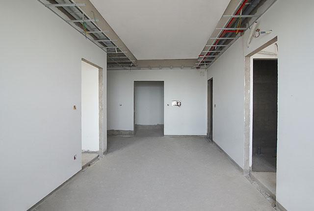 Thi công bả sơn matit căn hộ tầng 5 - 22 block A1