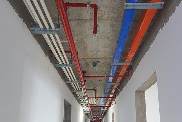 Thi công hệ thống M&E tầng 14 - 21 block B1