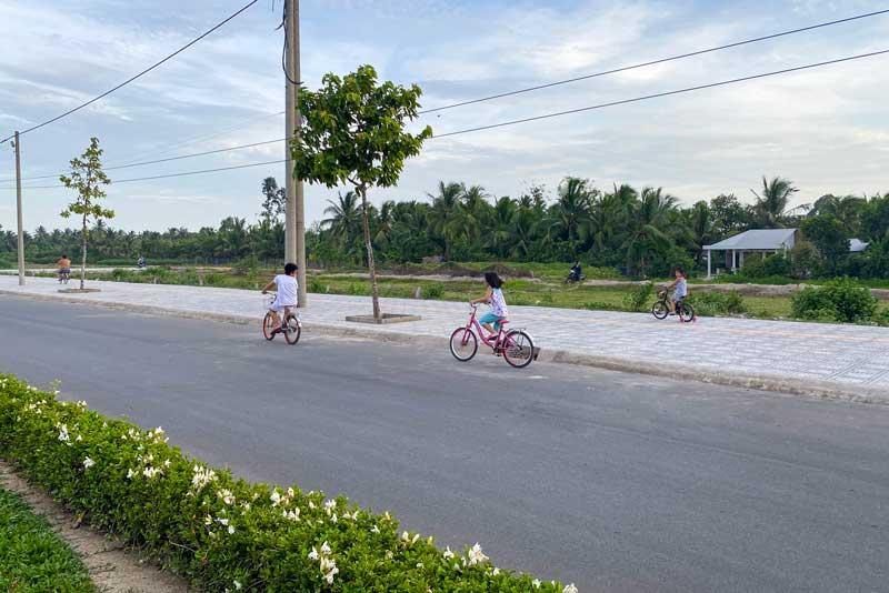Hình ảnh cơ sở hạ tầng Vĩnh Long New Town năm 2020