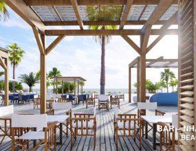 Phối cảnh khu tiện ích Beach Club Hồ Tràm