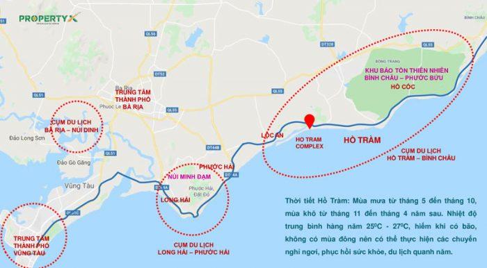 Thông số quy hoạch khu du lịch Hồ Tràm