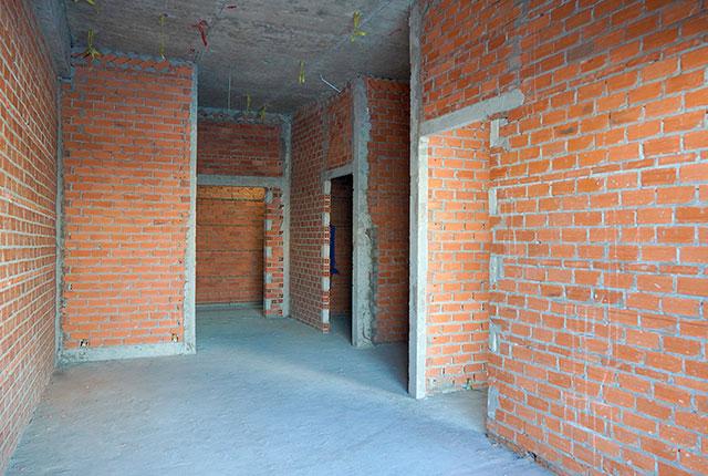 Xây tường bao căn hộ từ tầng 5 đến tầng 20 Block A1, Block A2, Block B và Block C